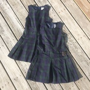 Land's End Girls Plaid School Uniform Jumper